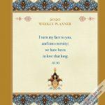 Enlightened Rumi 2020 6 x 7.75 Inch Weekly Desk Planner by Brush Dance, Traditional Art Poetry