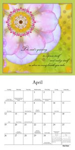 A Fearless Woman 2020 7 x 7 Inch Monthly Mini Wall Calendar by Brush Dance, Floral Artwork Flowers