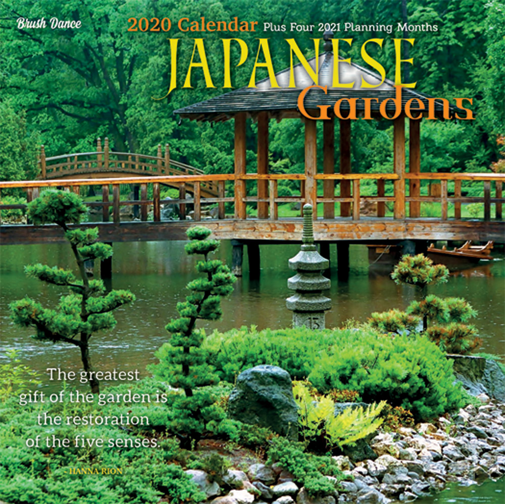 Japanese Gardens 2020 7 x 7 Inch Monthly Mini Wall Calendar by Brush Dance, Gardening Outdoor Home Country Nature