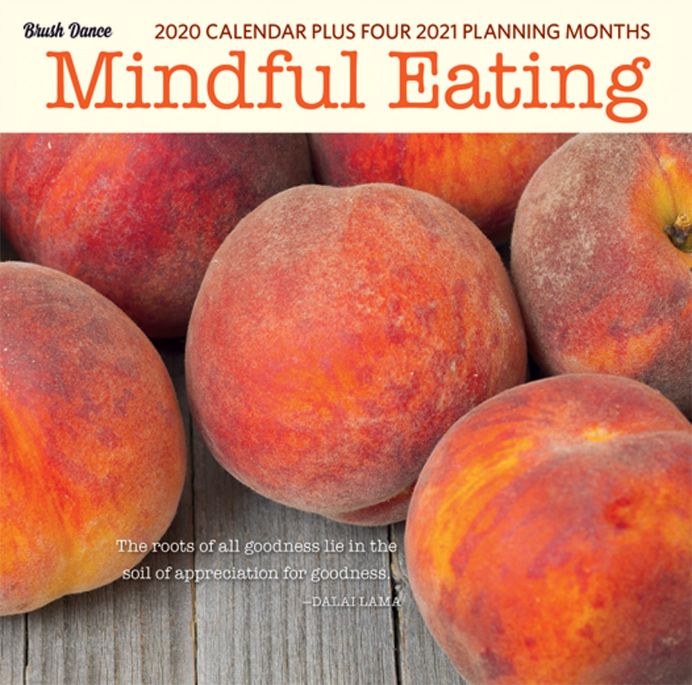 Mindful Eating 2020 7 x 7 Inch Monthly Mini Wall Calendar by Brush Dance, Images Photography Kitchen Food