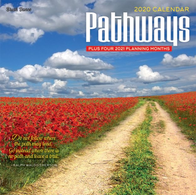 Pathways 2020 7 x 7 Inch Monthly Mini Wall Calendar by Brush Dance, Photography Journey Scenic Nature