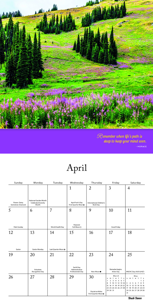 Stanford Calendar 2020-16 Brush Dance   2020 Calendar Collection