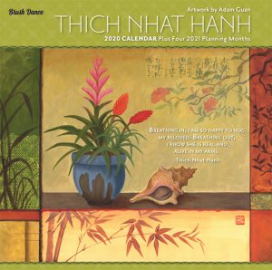 Thich Nhat Hanh 2020 7 x 7 Inch Monthly Mini Wall Calendar by Brush Dance, Zen Peace Spiritual Leader