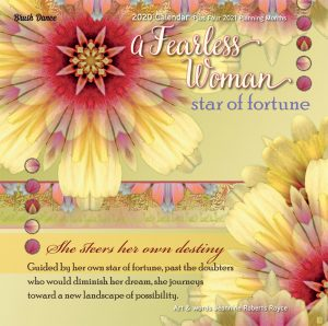 A Fearless Woman 2020 12 x 12 Inch Monthly Square Wall Calendar by Brush Dance, Floral Artwork Flowers