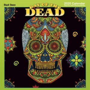 Day of the Dead 2020 12 x 12 Inch Monthly Square Wall Calendar by Brush Dance, Holiday Celebration Mexico