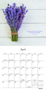 Inspired Living 2020 12 x 12 Inch Monthly Square Wall Calendar by Brush Dance, Photography Quotes Inspiration