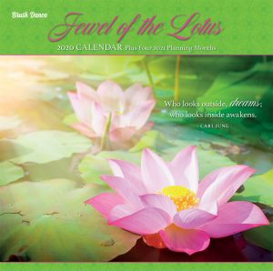 Jewel of the Lotus 2020 12 x 12 Inch Monthly Square Wall Calendar by Brush Dance, Photography Quotations Flowers Floral