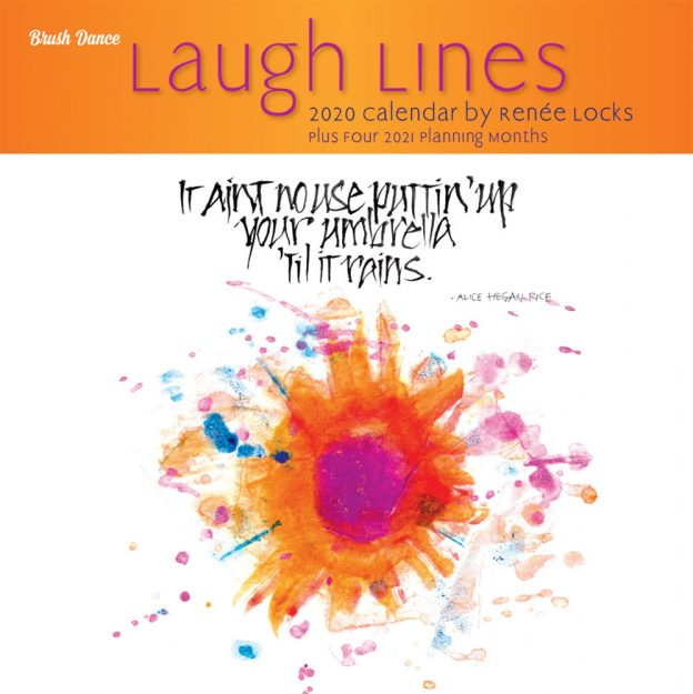 Laugh Lines 2020 12 x 12 Inch Monthly Square Wall Calendar by Brush Dance, Artwork Art Humor Drawing
