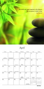 Mindful Living 2020 12 x 12 Inch Monthly Square Wall Calendar by Brush Dance, Art Quotes Photography Inspiration