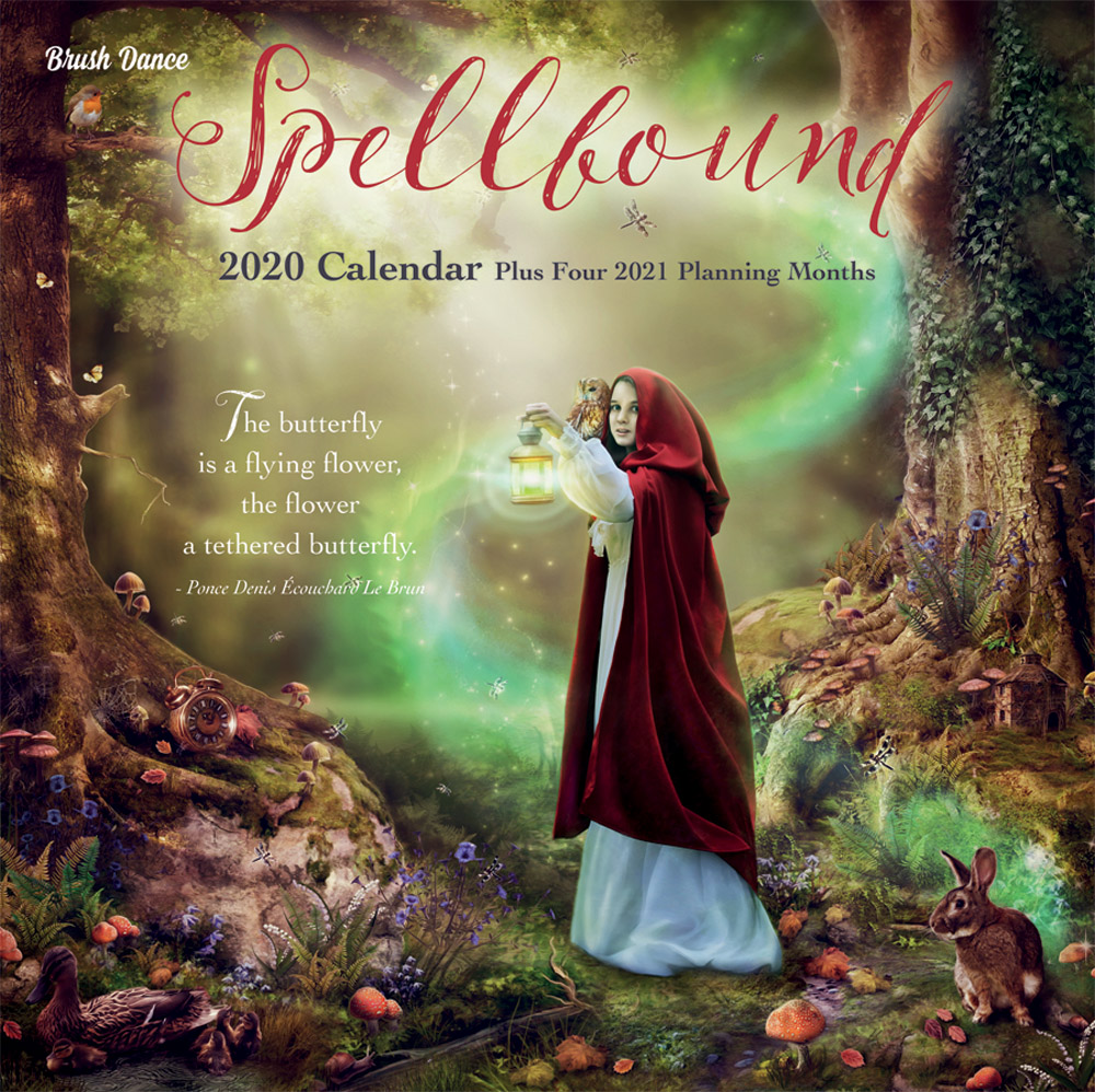 Spellbound 2020 12 x 12 Inch Monthly Square Wall Calendar by Brush Dance, Art Artwork Fantasy Mystical