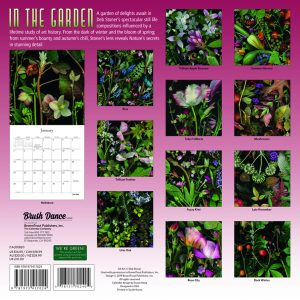 In the Garden 2020 12 x 12 Inch Monthly Square Wall Calendar by Brush Dance, Flowers Plants Floral Photography