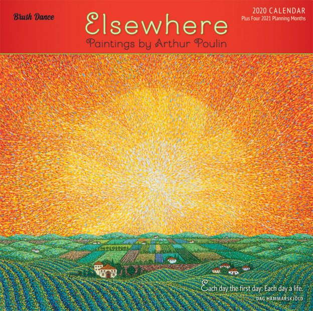 Elsewhere 2020 12 x 12 Inch Monthly Square Wall Calendar by Brush Dance, Paintings Impressionism Arthur Poulin