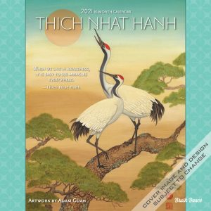 Thich Nhat Hanh 2021 12 x 12 Inch Monthly Square Wall Calendar by Brush Dance, Zen Peace Spiritual Leader
