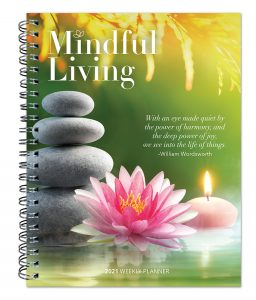 Mindful Living 2021 6 x 7.75 Inch Weekly Desk Planner by Brush Dance, Art Quotes Photography Inspiration