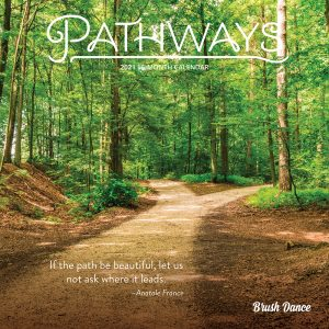 Pathways 2021 7 x 7 Inch Monthly Mini Wall Calendar by Brush Dance, Photography Journey Scenic Nature