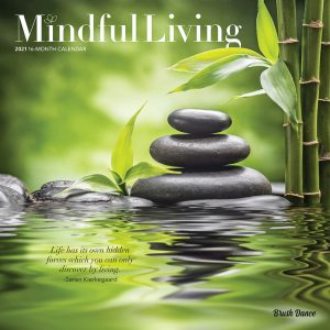 Mindful Living 2021 12 x 12 Inch Monthly Square Wall Calendar by Brush Dance, Art Quotes Photography Inspiration