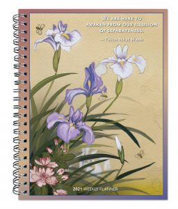 Thich Nhat Hanh 2021 6 x 7.75 Inch Weekly Desk Planner by Brush Dance, Zen Peace Spiritual Leader