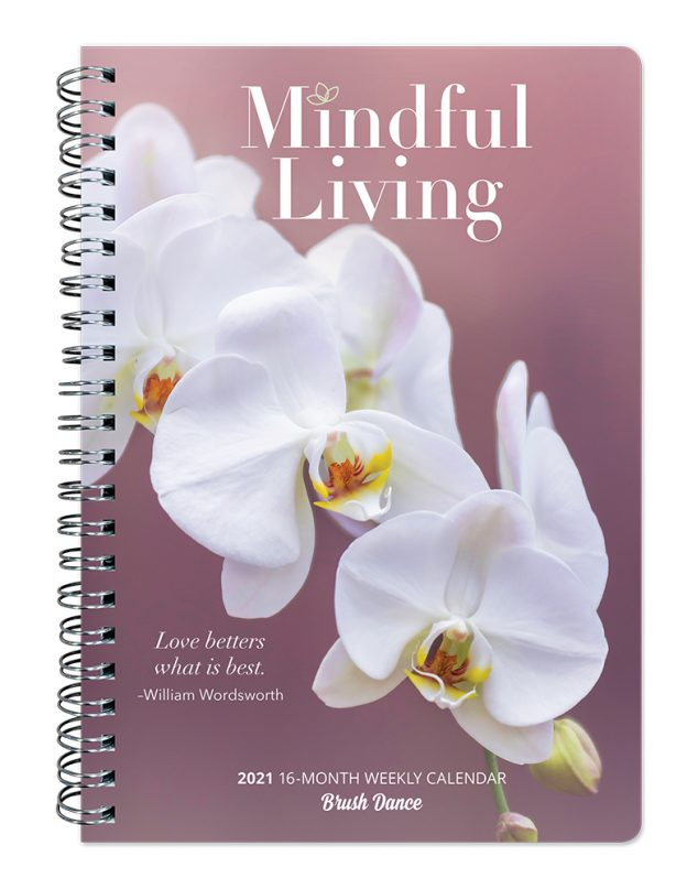 Mindful Living 2021 6.9 x 9.8 Inch Weekly Karma Planner by Brush Dance, Art Quotes Photography Inspiration