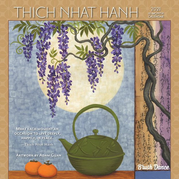 Thich Nhat Hanh 2021 7 x 7 Inch Monthly Mini Wall Calendar by Brush Dance, Zen Peace Spiritual Leader