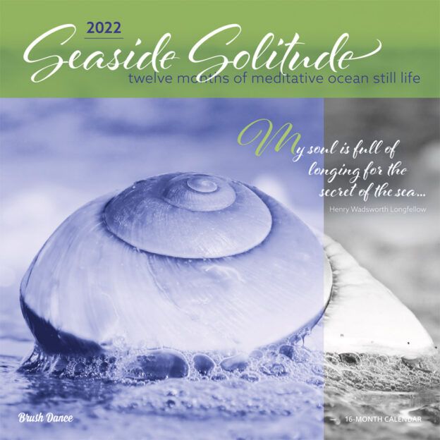 Seaside Solitude 2022 12 x 12 Inch Monthly Square Wall Calendar by Brush Dance, Nature Inspiration Seashore