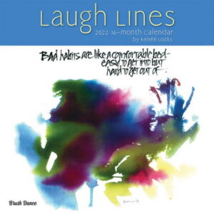 Laugh Lines 2022 12 x 12 Inch Monthly Square Wall Calendar by Brush Dance, Artwork Humor Drawing