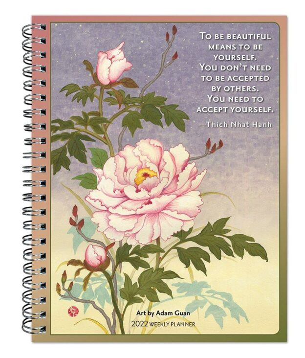 Thich Nhat Hanh 2022 6 x 7.75 Inch Weekly Desk Planner by Brush Dance, Zen Peace Spiritual Leader